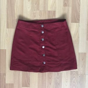 Velvet Button Down Skirt